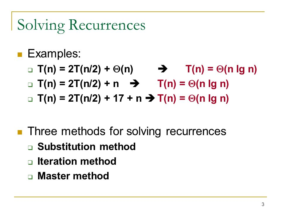 Introduction To Algorithms Chapter 4 Recurrences Ppt Download