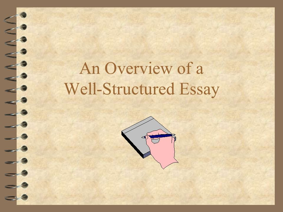 An Overview Of A Wellstructured Essay Before We Get Started    An Overview Of A Wellstructured Essay Paper Essay also English Essay Topics For Students  High School Essay Help