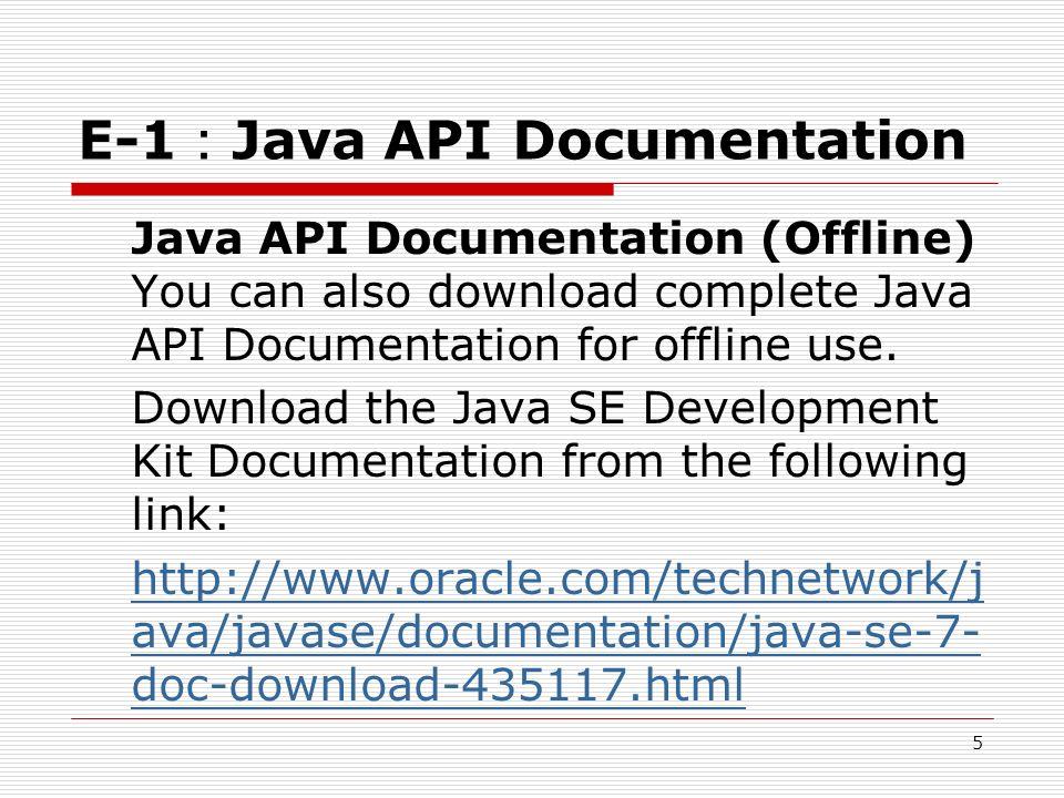 COMPLETE JAVA DOCUMENTATION PDF