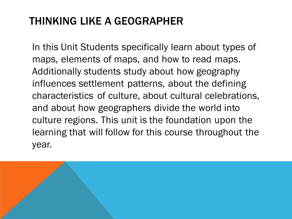 Thinking Like A Geographer In This Unit Students Specifi Y Learn About Types Of Maps Elements