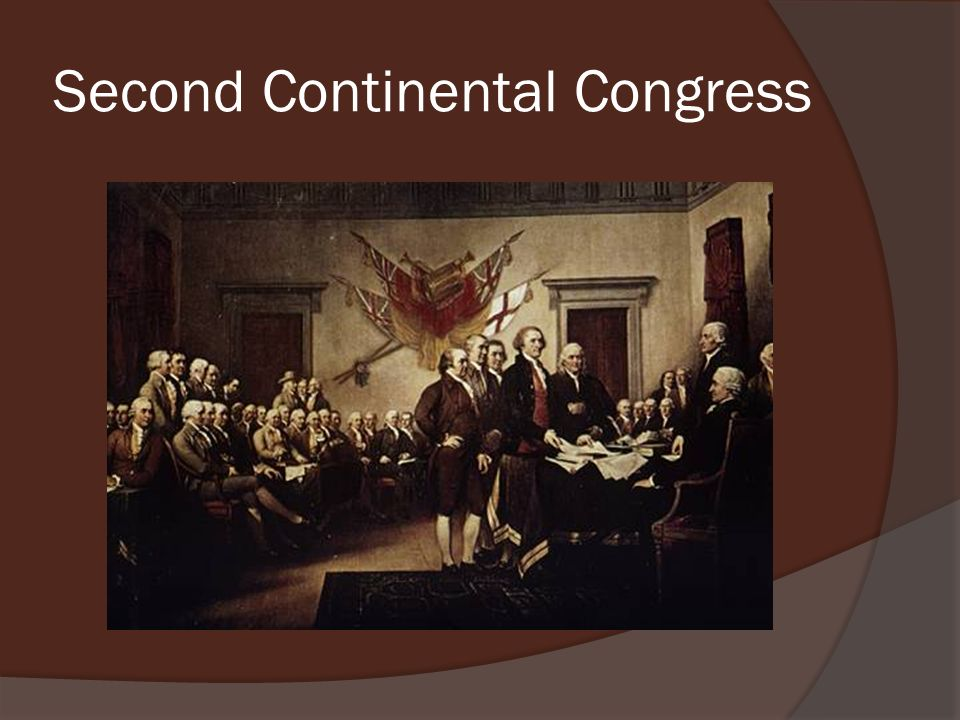 a history of the second continental congress The first and second continental congresses, held in philadelphia in 1774 and 1775-81, engaged in the complex politics surrounding independence and heightened the city's role in a world-changing moment in history.