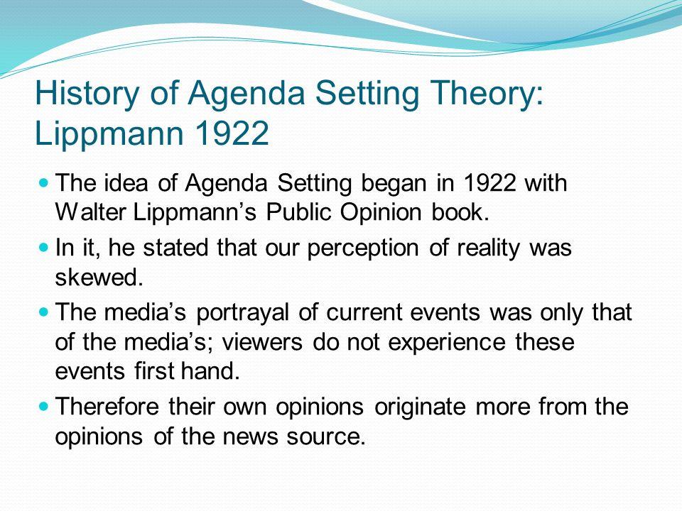 agenda setting theory definition