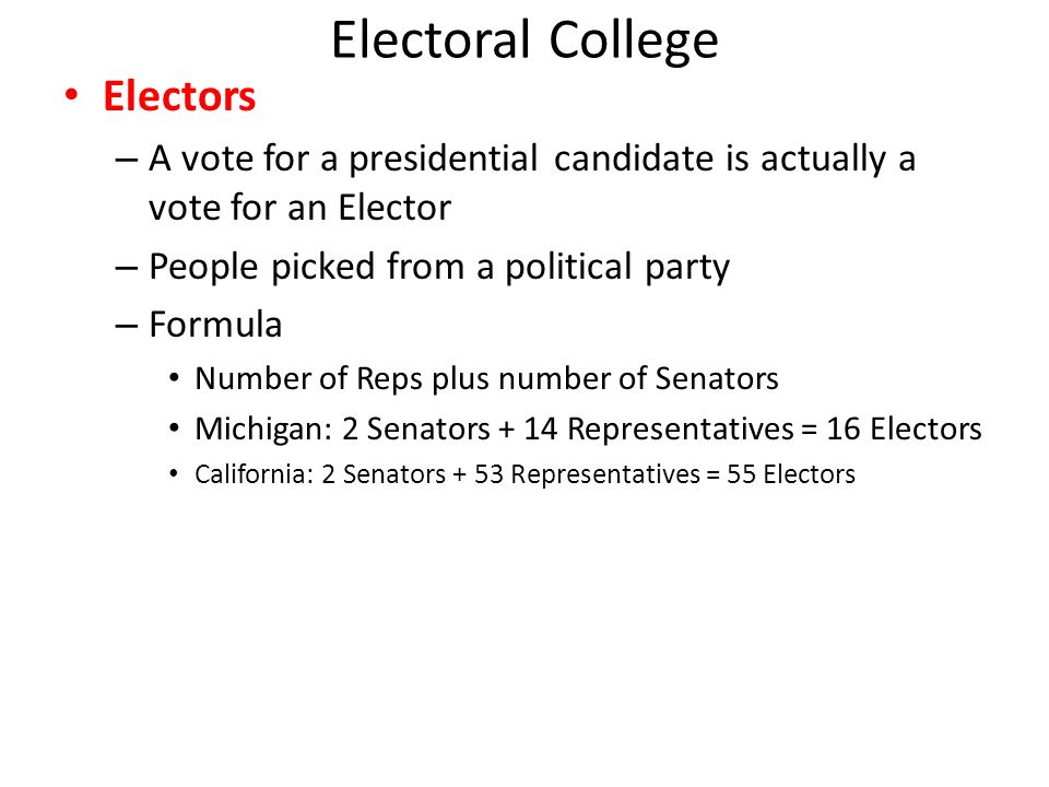 electoral college system 2 essay Take a position agreeing with or disagreeing with the position taken by george will in his article and include your personal view on the likelihood that the electoral system will or will not be a part of our political system in the future and what impact that may have on future presidential election.
