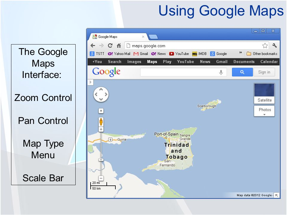 Google Map Scale Bar on