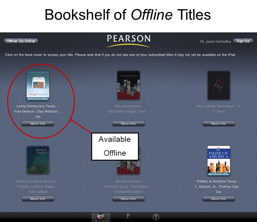 7 Bookshelf Of Offline Titles Available