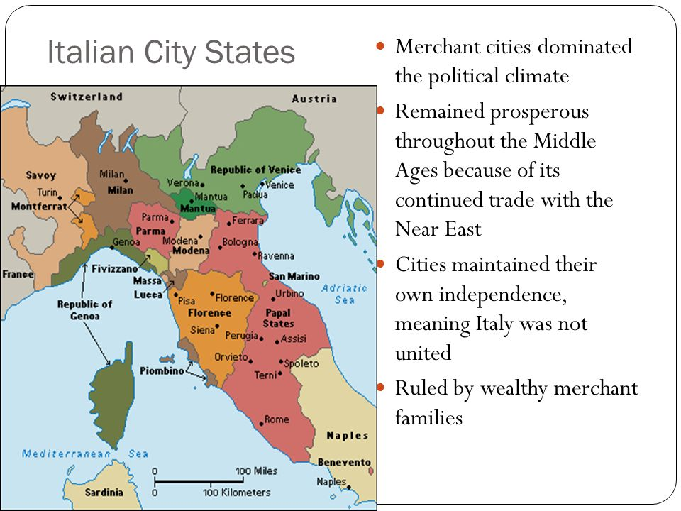 why were italian city states so economically prosperous