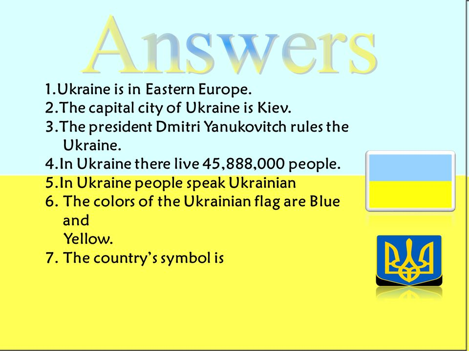 I Have Chosen To Do My Project About Ukraine Because My Family Had