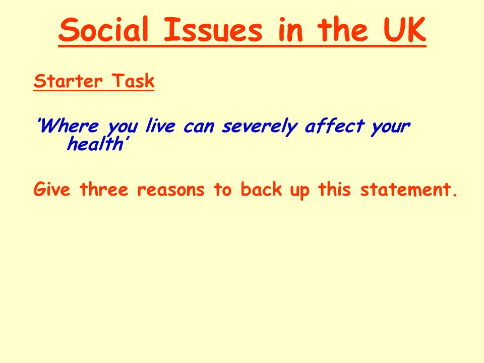 social issues in the uk