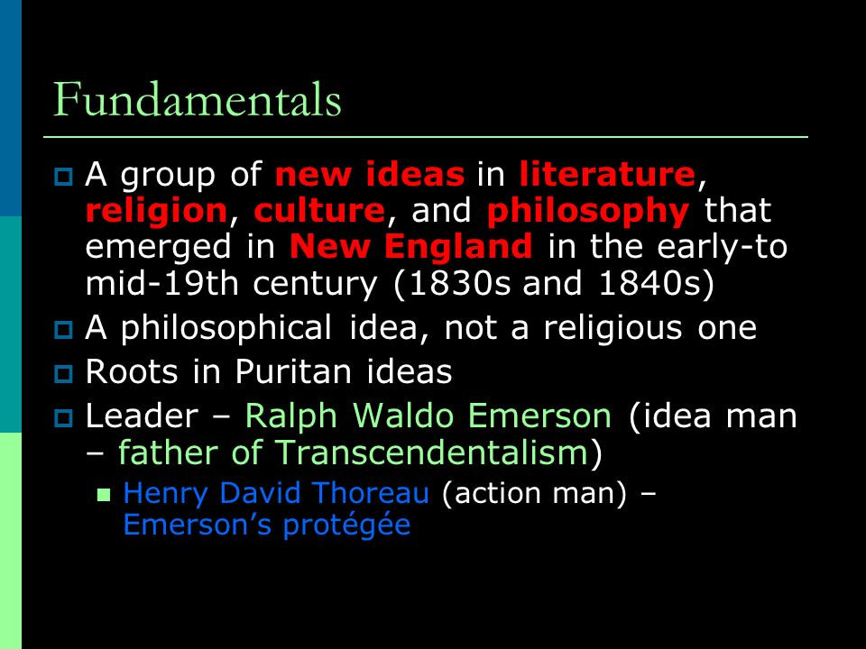 how do transcendentalists define truth