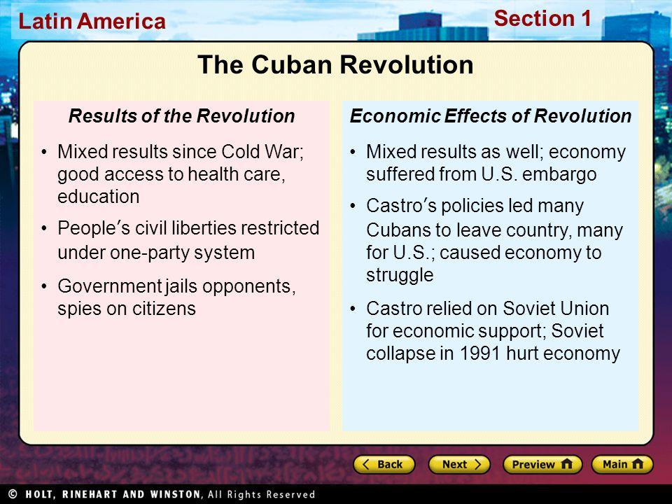cuban revolution causes