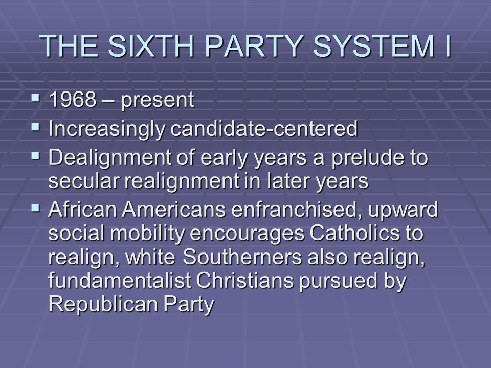 what is secular realignment