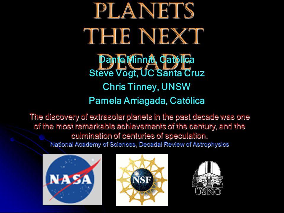 Extrasolar Planets The Next Decade Dante Minniti, Católica Steve