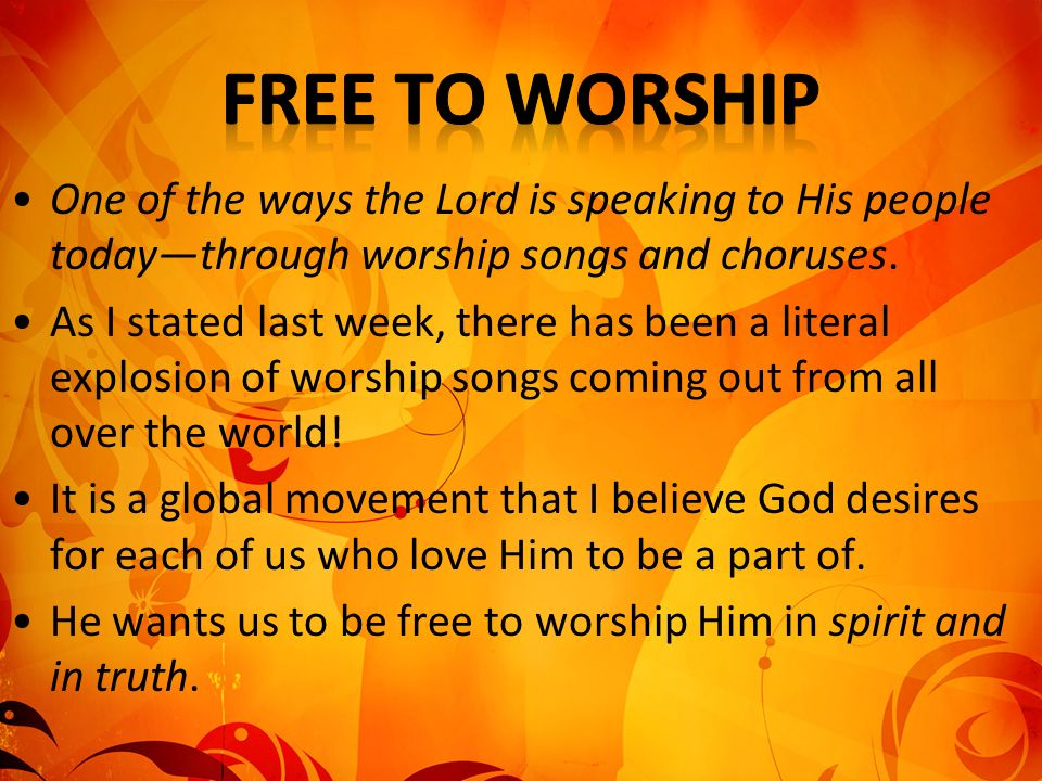 SHOW VIDEO: Thoughts on Worship Spirit & Truth – authentic