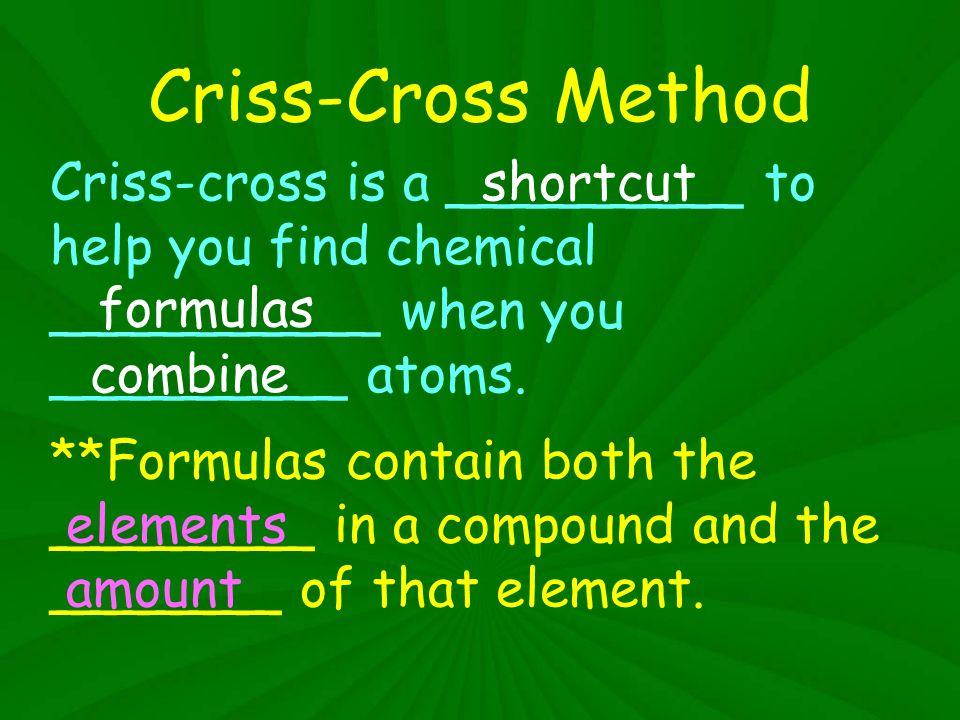 Criss Cross Notes Criss Cross Method Criss Cross Is A
