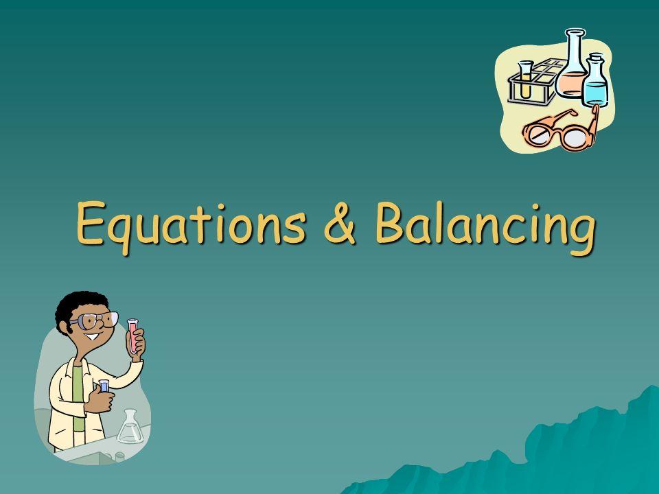 equations balancing outline word equations skeleton