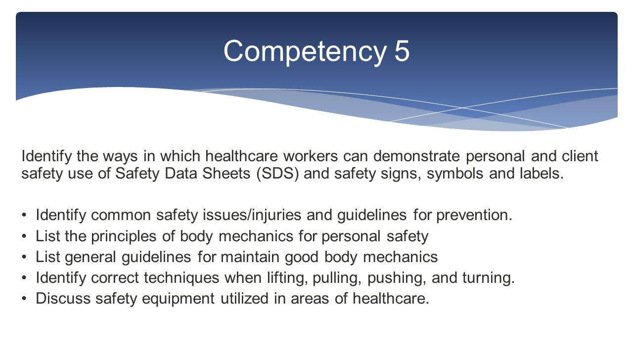 Healthcare Safety And Standard Precautions Competencies Ppt Download
