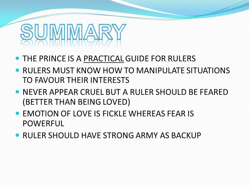 the prince niccolo machiavelli analysis