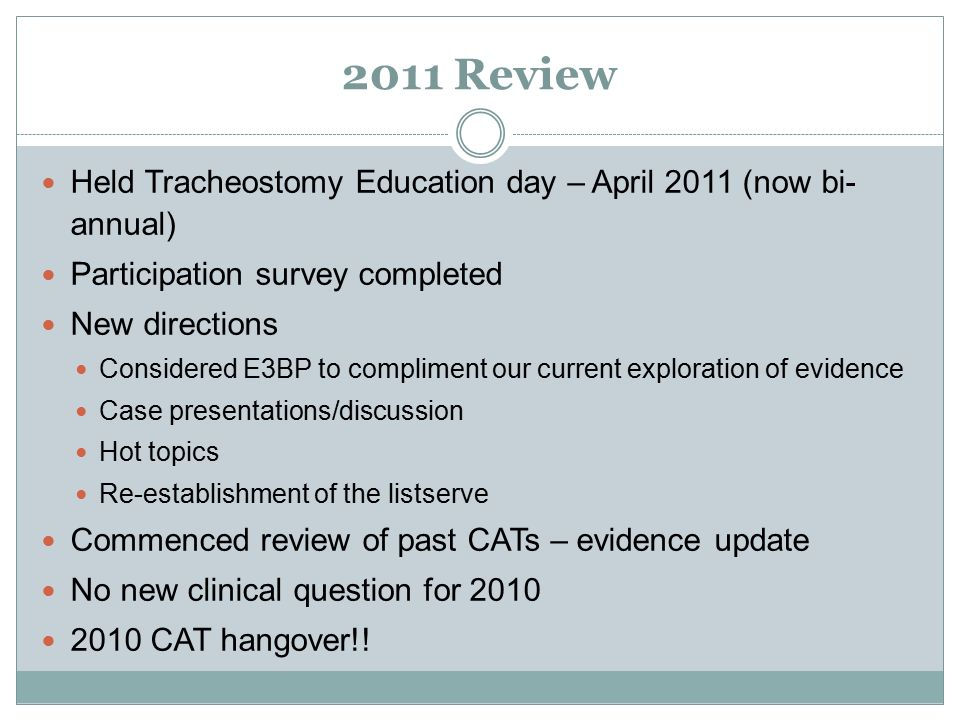 CRITICAL CARE & TRACHEOSTOMY DISCUSSION AND EBP GROUP EXTRAVAGANZA