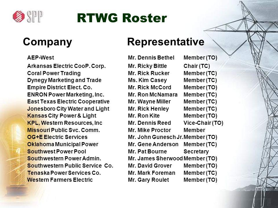 rtwg roster company representative aep westmr dennis bethelmember to arkansas electric coop