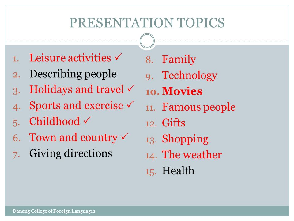 english presentation topics for students