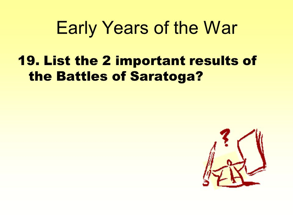 what were the important results of the battle of saratoga