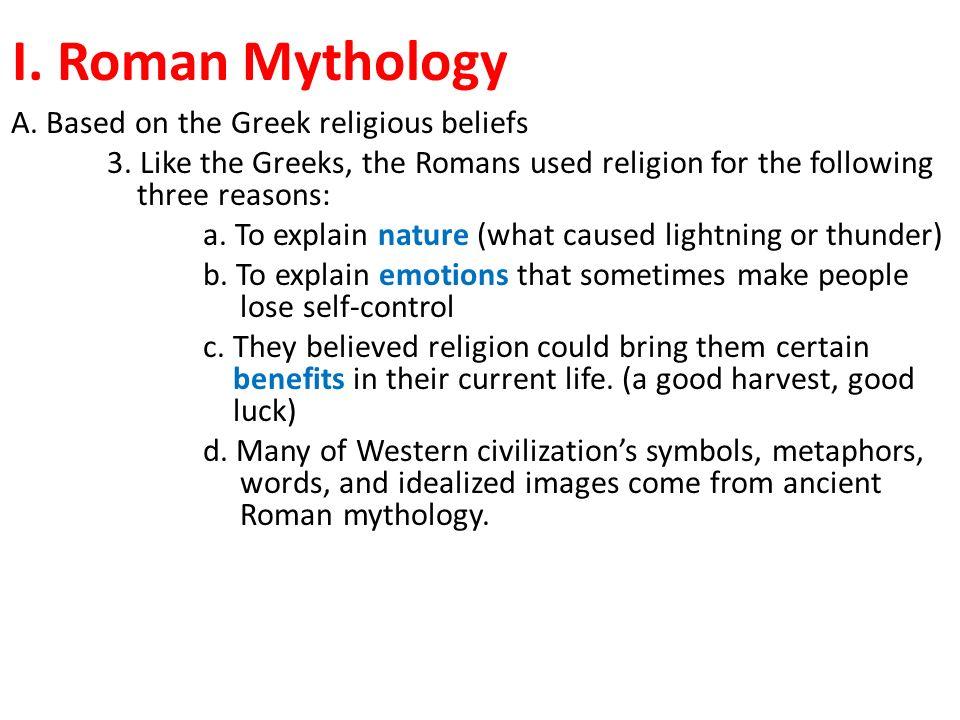 Roman Mythology I Roman Mythology A Based On The Greek Religious