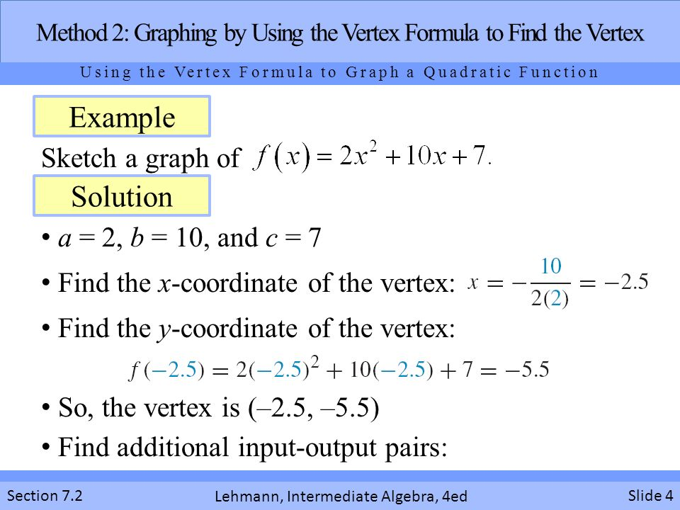 Graphing Quadratic Functions In Standard From Section Ppt Download