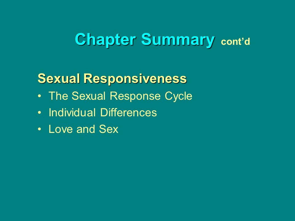 Sexually responsive meaning