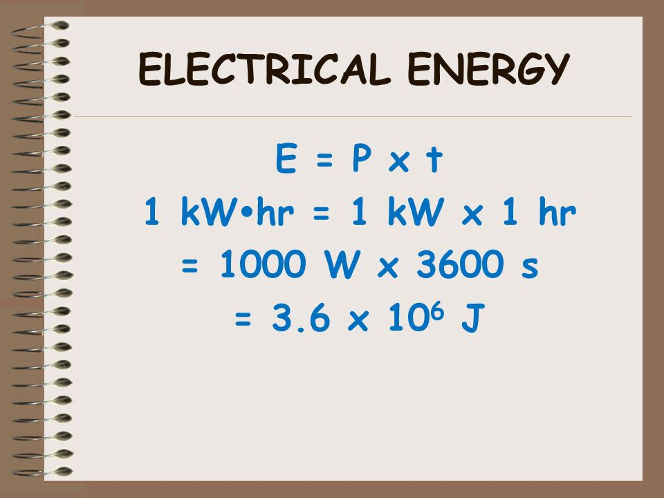 33 Electrical Energy Is Used By Companies To Calculate