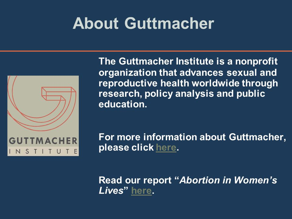 Perspectives on sexual and reproductive health published by the alan guttmacher institute