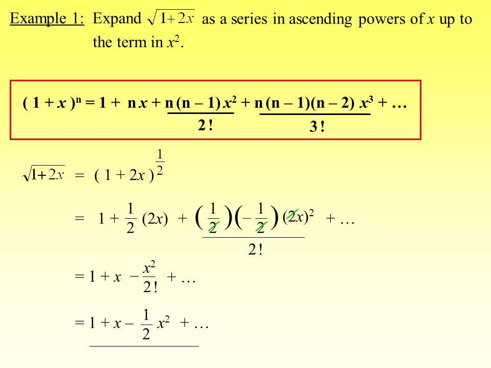 Binomial Expansions 1 X N A B N N C 0 A N N C 1 A N