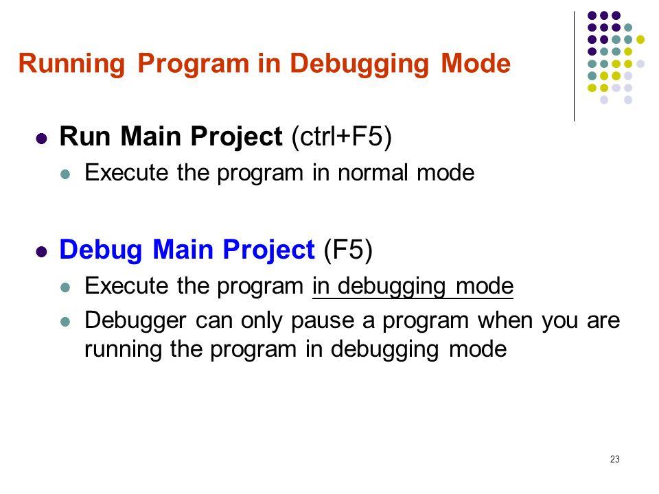 cl.exe debug mode