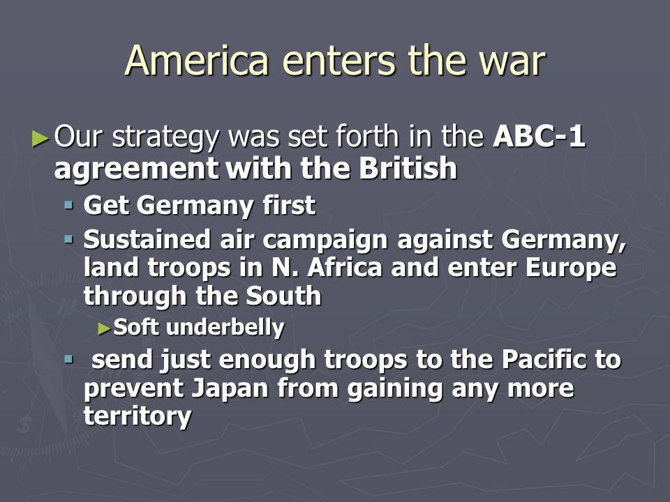 Chapter 35 America Joins The War America Enters The War Our