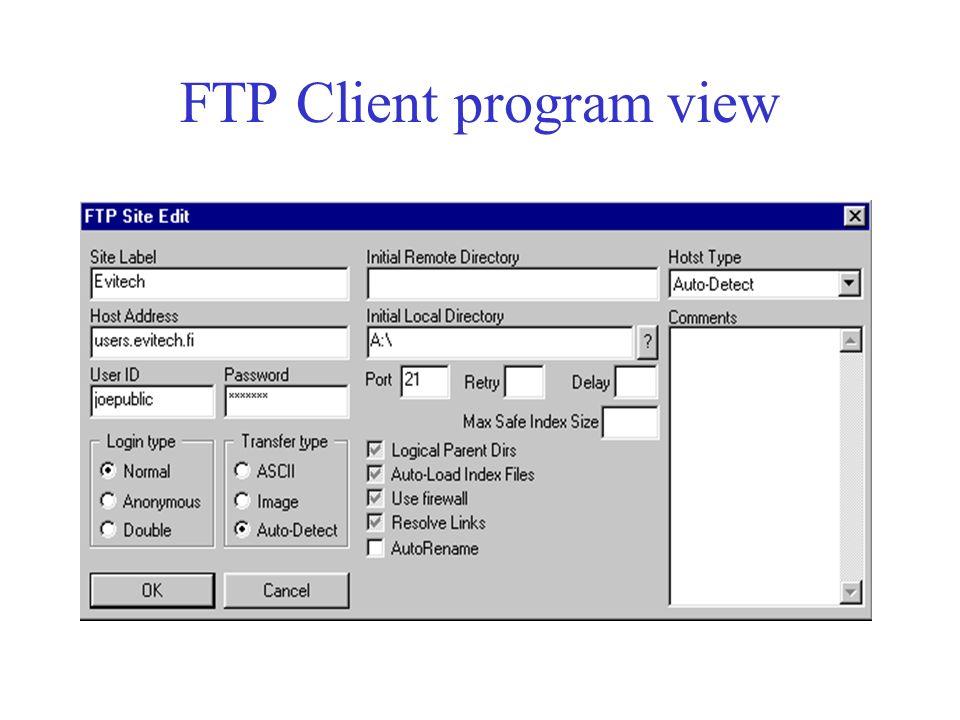 Accessing Evitech network via FTP by Susan Jansson  - ppt