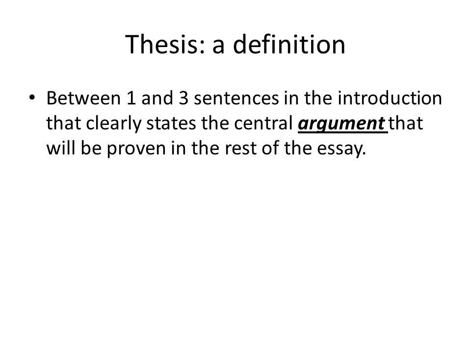 central argument definition