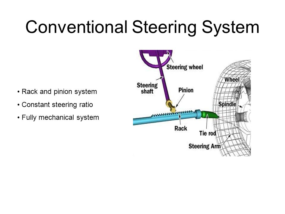 2 Conventional Steering System Rack And Pinion Constant Ratio Fully Mechanical