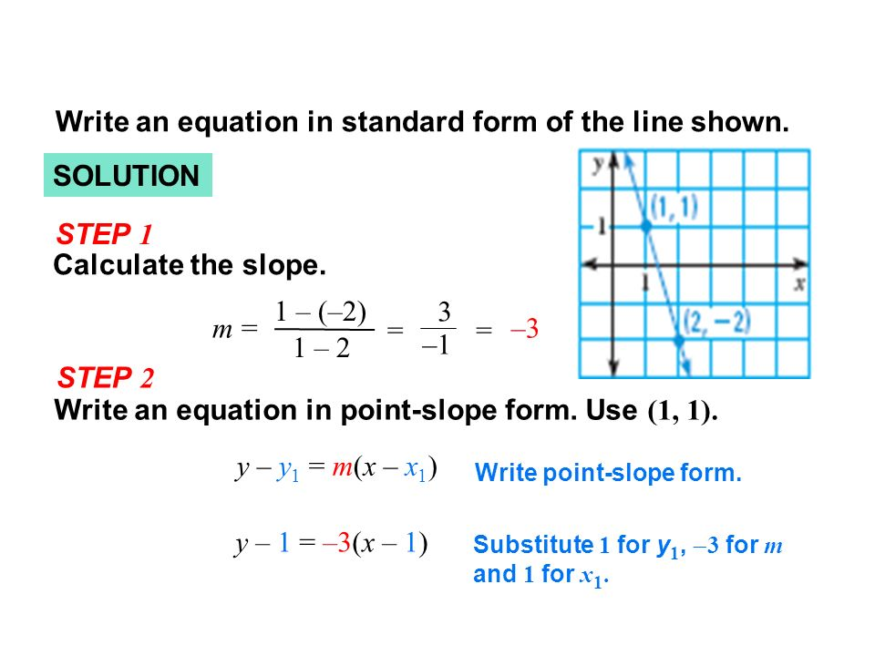 point slope form calculator with steps  Lesson 177-177 Objective The student will be able to: 17) write ...