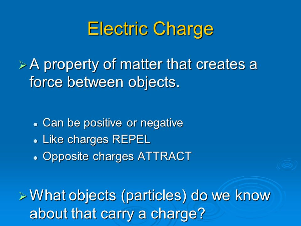 Electrostatics Charges At Rest 2 Electric
