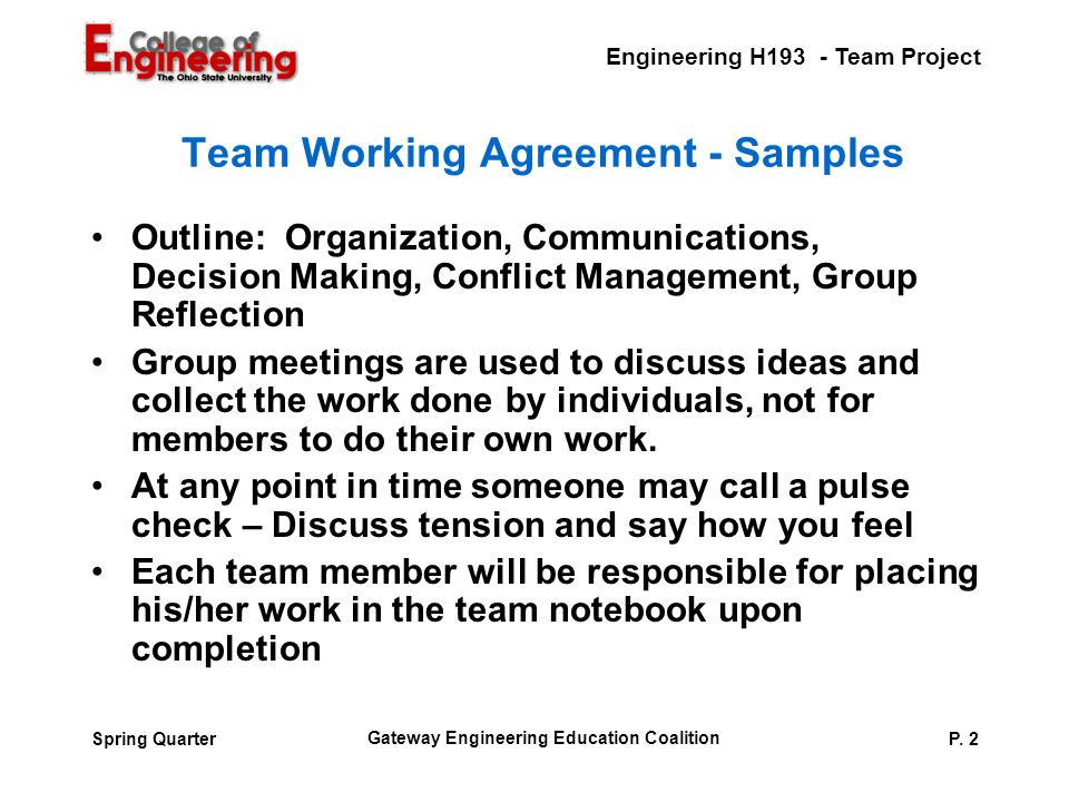 Engineering H193 Team Project Gateway Engineering Education