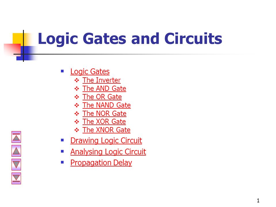 1 Logic Gates and Circuits  Logic Gates Logic Gates  The ...