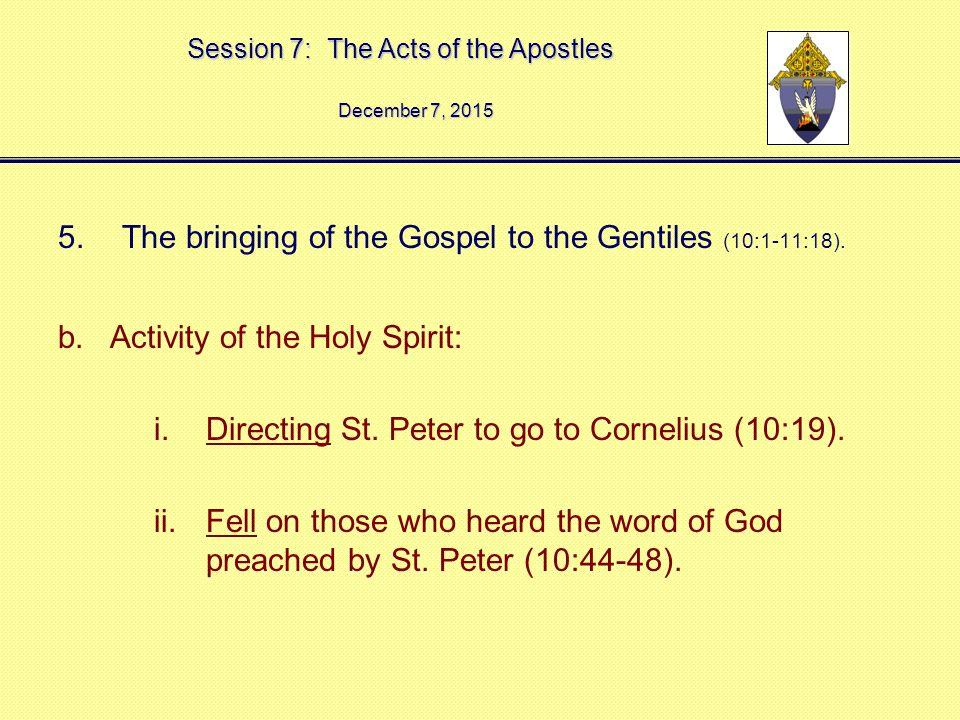 peter and cornelius activity