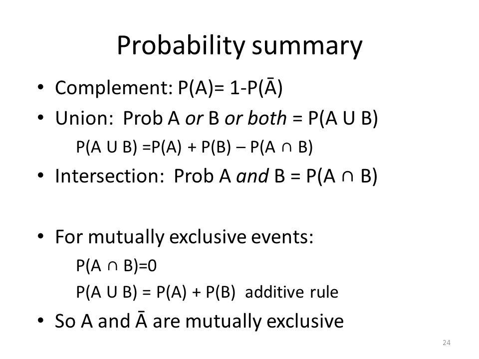 a & p summary