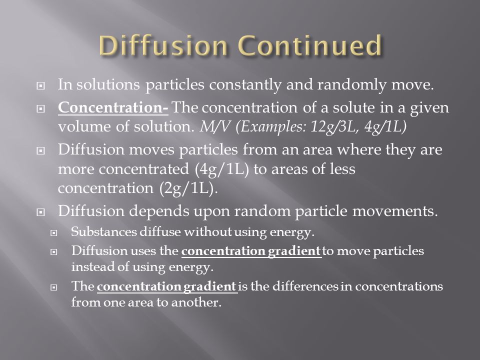  In solutions particles constantly and randomly move.