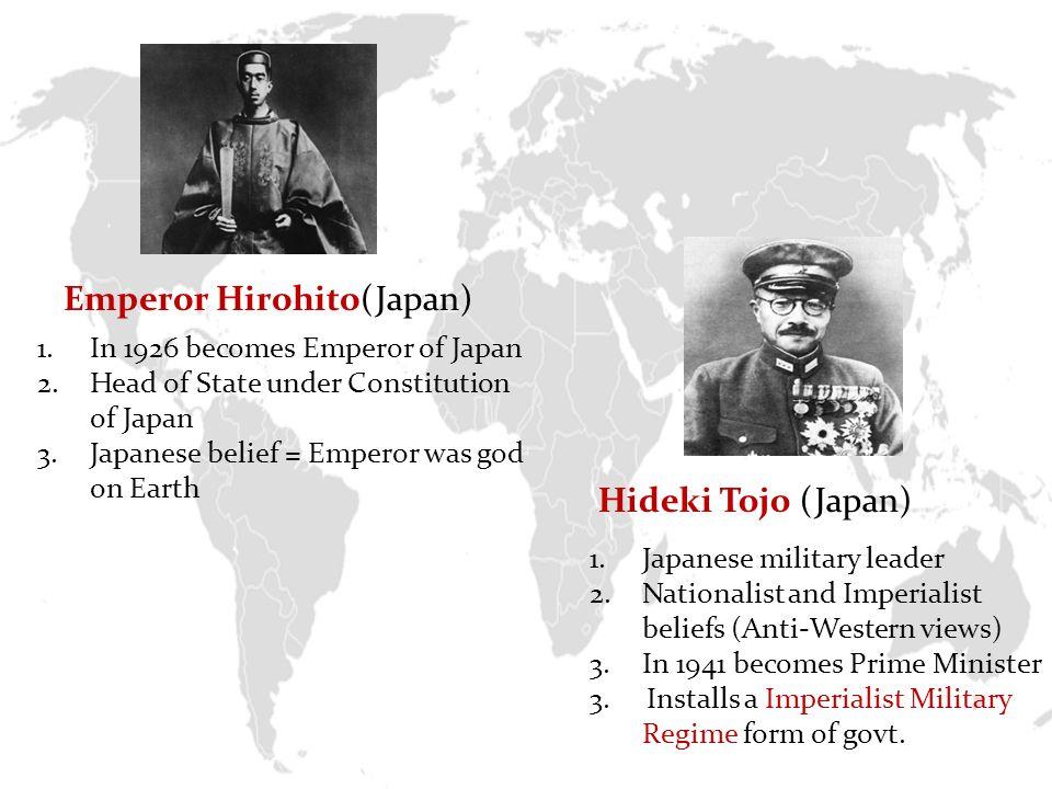 hideki tojo beliefs