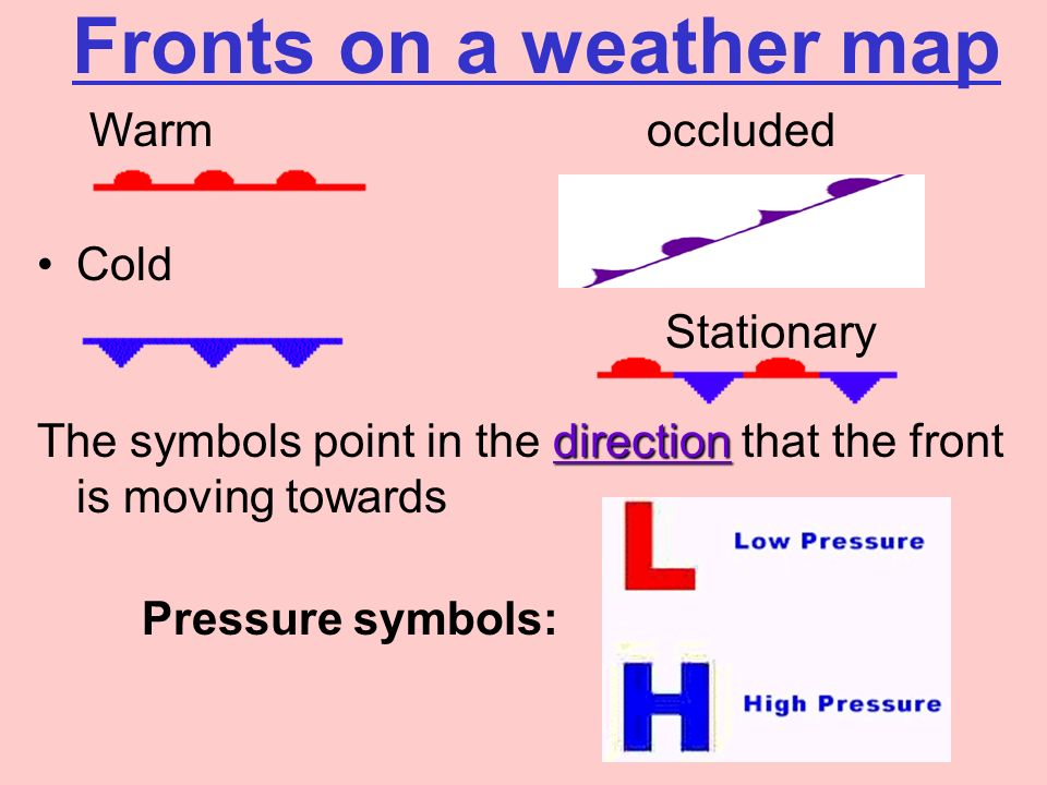 Weather Stations Weather Map Symbols Temperature Top Left Number