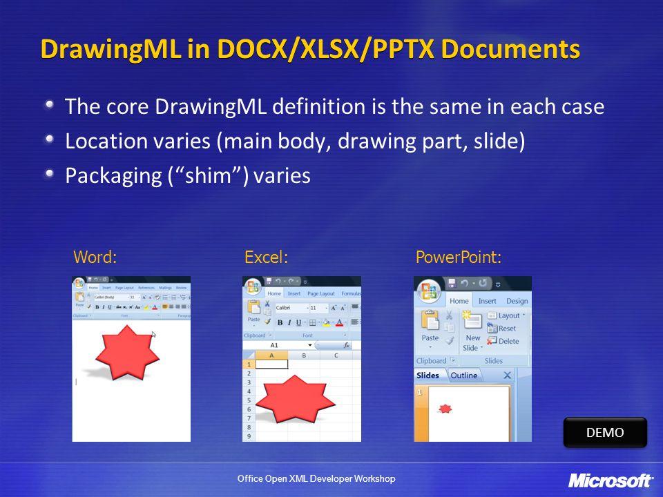 Office Open XML Developer Workshop DrawingML Basics  - ppt