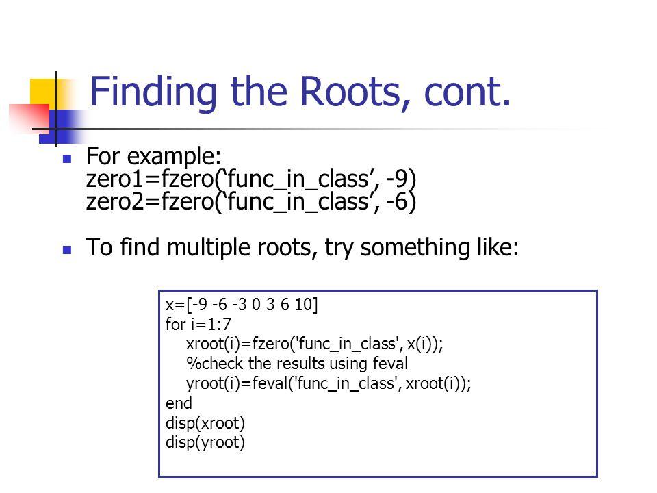 Analyzing Functions (4 16) y=f(x) MATLAB  Functional