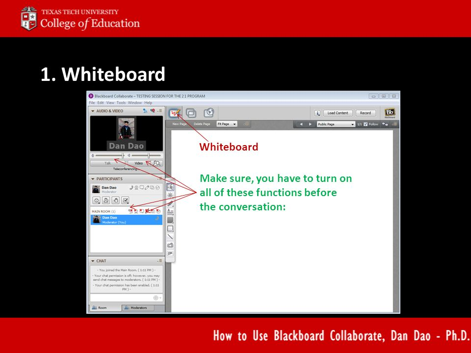 How to Use Blackboard Collaborate Dan Dao, Ph D   - ppt download