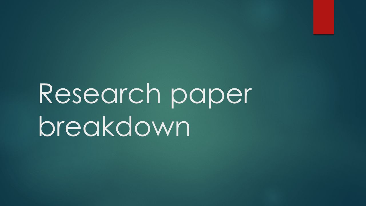research article analysis paper narcotics