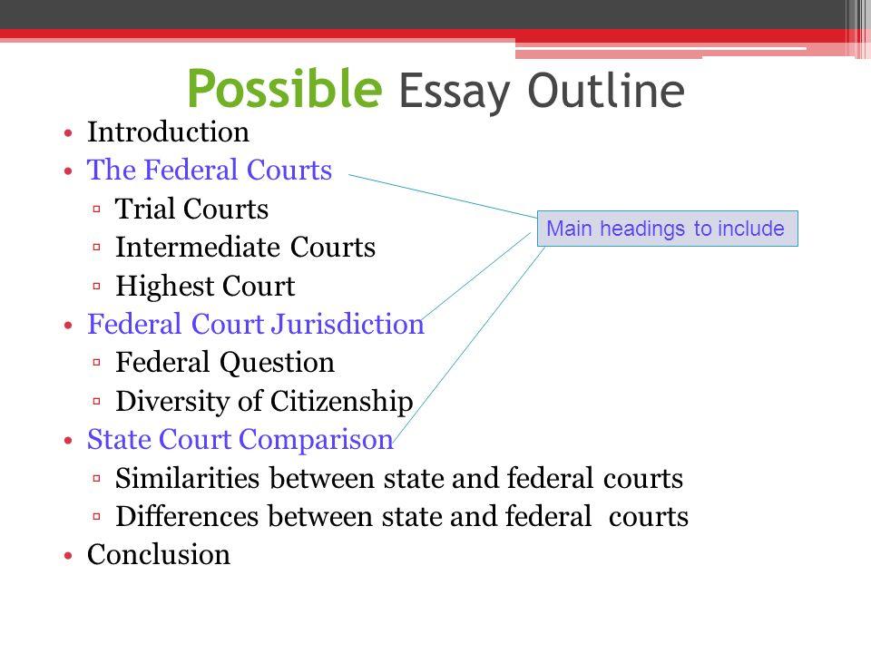 court system essay